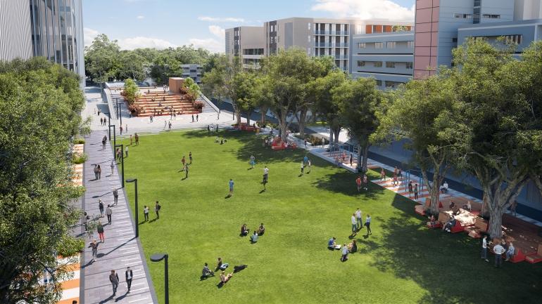 Alumni Park render