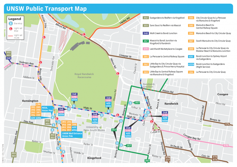 UNSW Public Transport Map